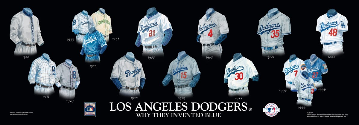Los Angeles Dodgers Uniform and Team History  f5963a3202d