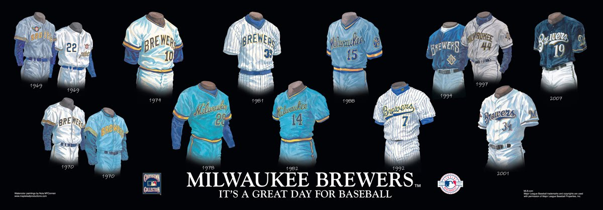 separation shoes 85765 65419 Milwaukee Brewers Uniform and Team History | Heritage ...