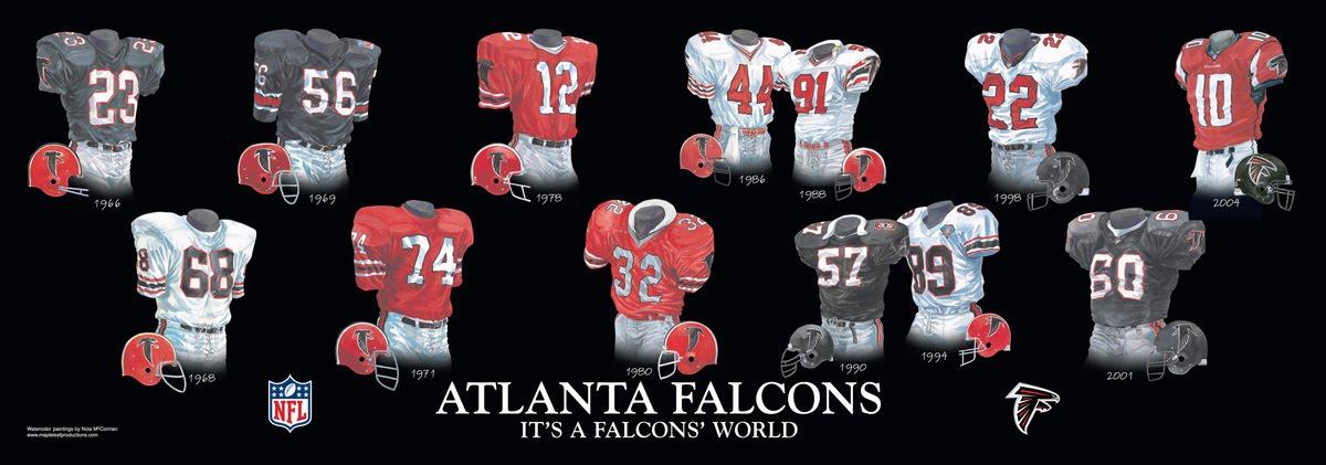 Atlanta Falcons Uniform and Team History  e4b7dad4c