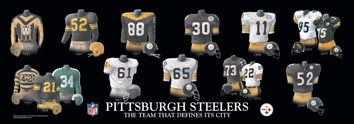 sports shoes 0fe00 2f31d Pittsburgh Steelers Uniform and Team History | Heritage ...
