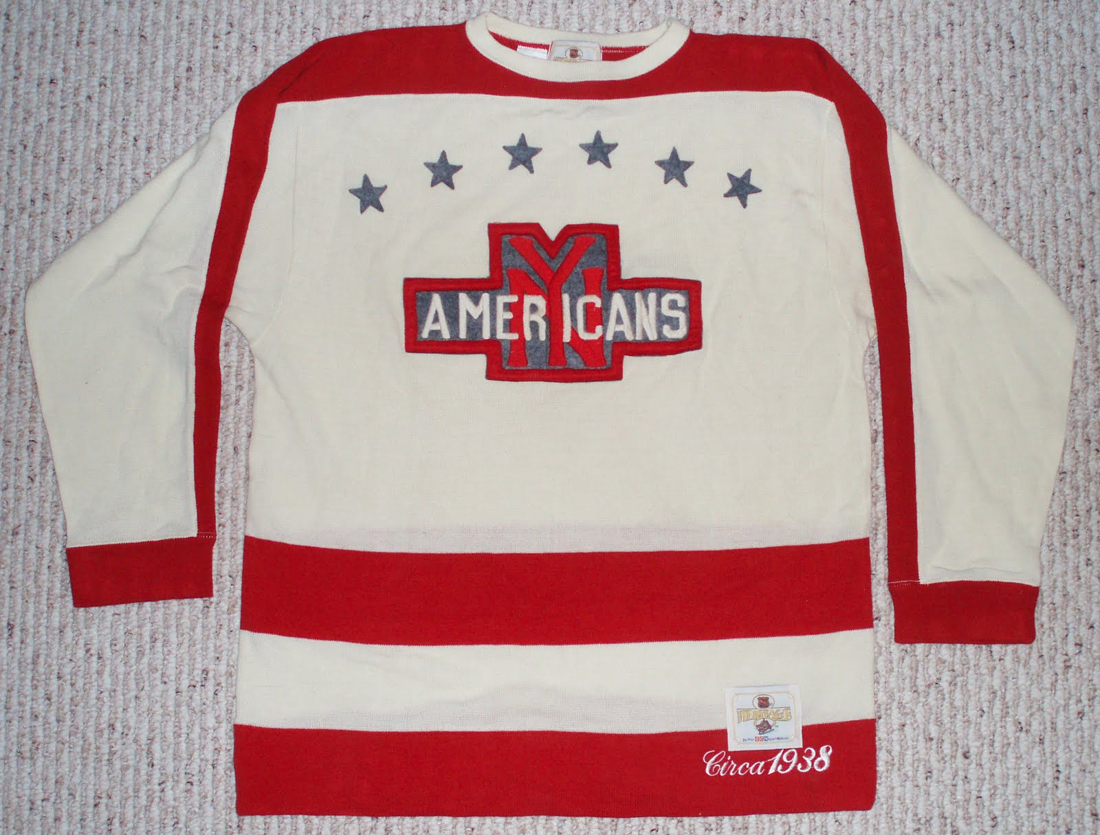 ... least one jersey for each of the Original Six teams plus at least the  Philadelphia Quakers e11b3b3975ff