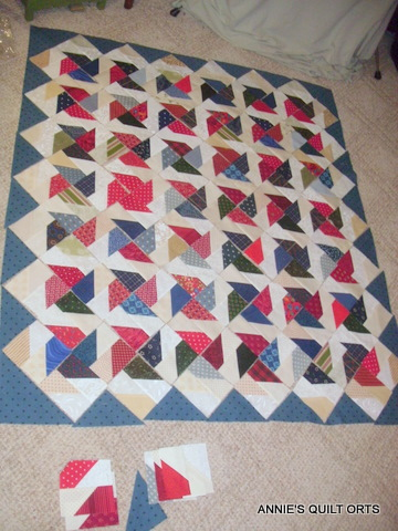 Annie S Quilt Orts Design Wall Monday Jan 3 2011