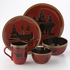 Building A Log Cabin: Dinnerware for the Log Cabin