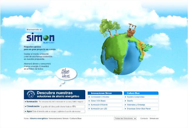 Barcelona Virtual ha creado el nuevo microsite medioambiental Simon Blue Planet