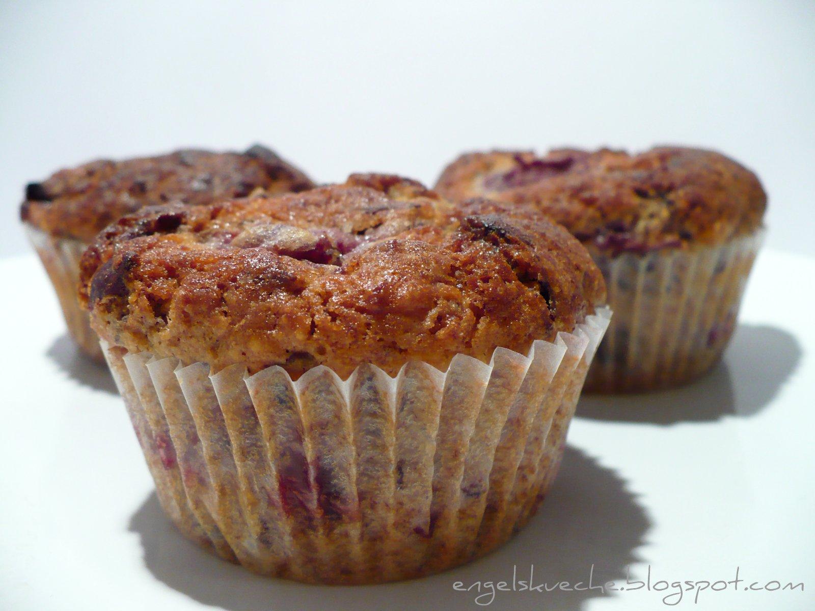 Essen Aus Engelchens Kuche Schoko Nuss Muffins Mit Kirschen