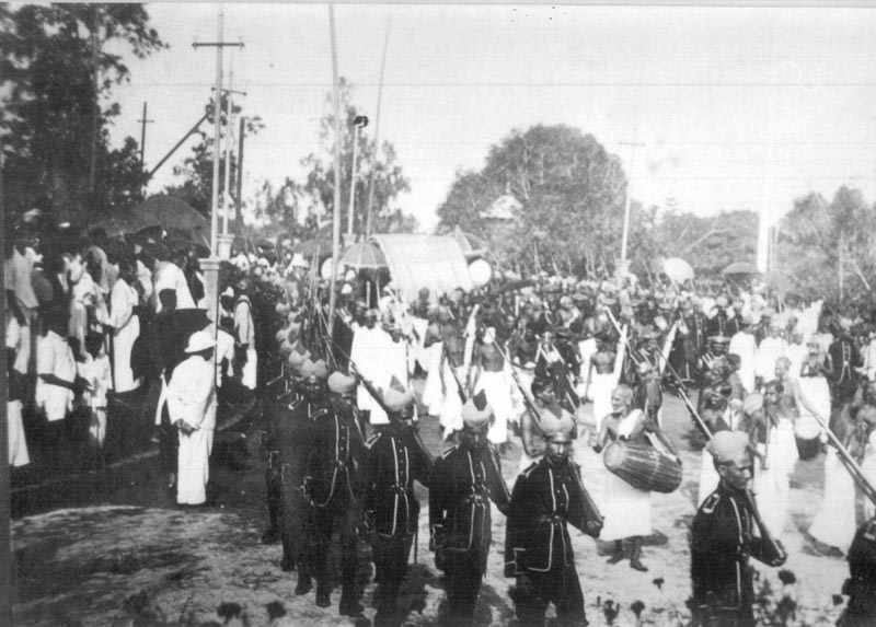 Image result for travancore king procession