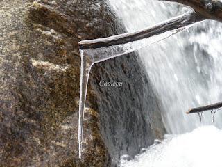 agua y hielo en el valle del jerte