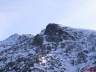 nieve en las montaña valle del jerte