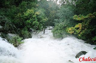 Crecida por las lluvias en valle del jerte