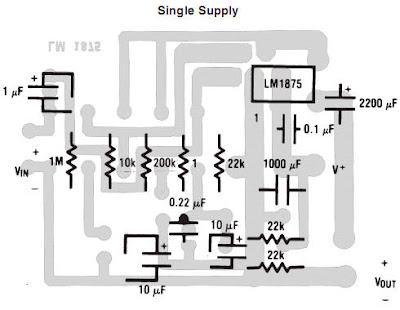 world technical: Amplifier of 68 watts using lm3886