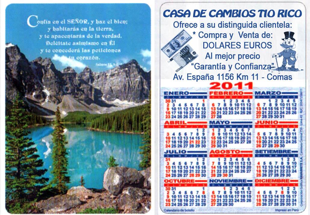 Calendarios Peru 2011