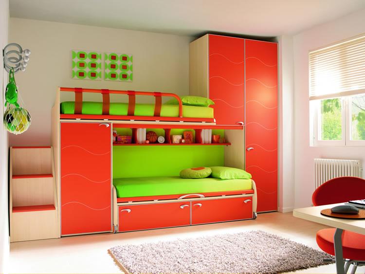 Dormitorios funcionales para ninos diseno de interiores - Dormitorio de ninos ...
