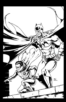 New Cool Meat: Hey look, I drew Batman and Robin. Unusual..