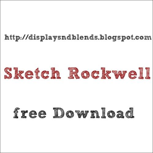 Sketch Rockwell font, descargar gratis