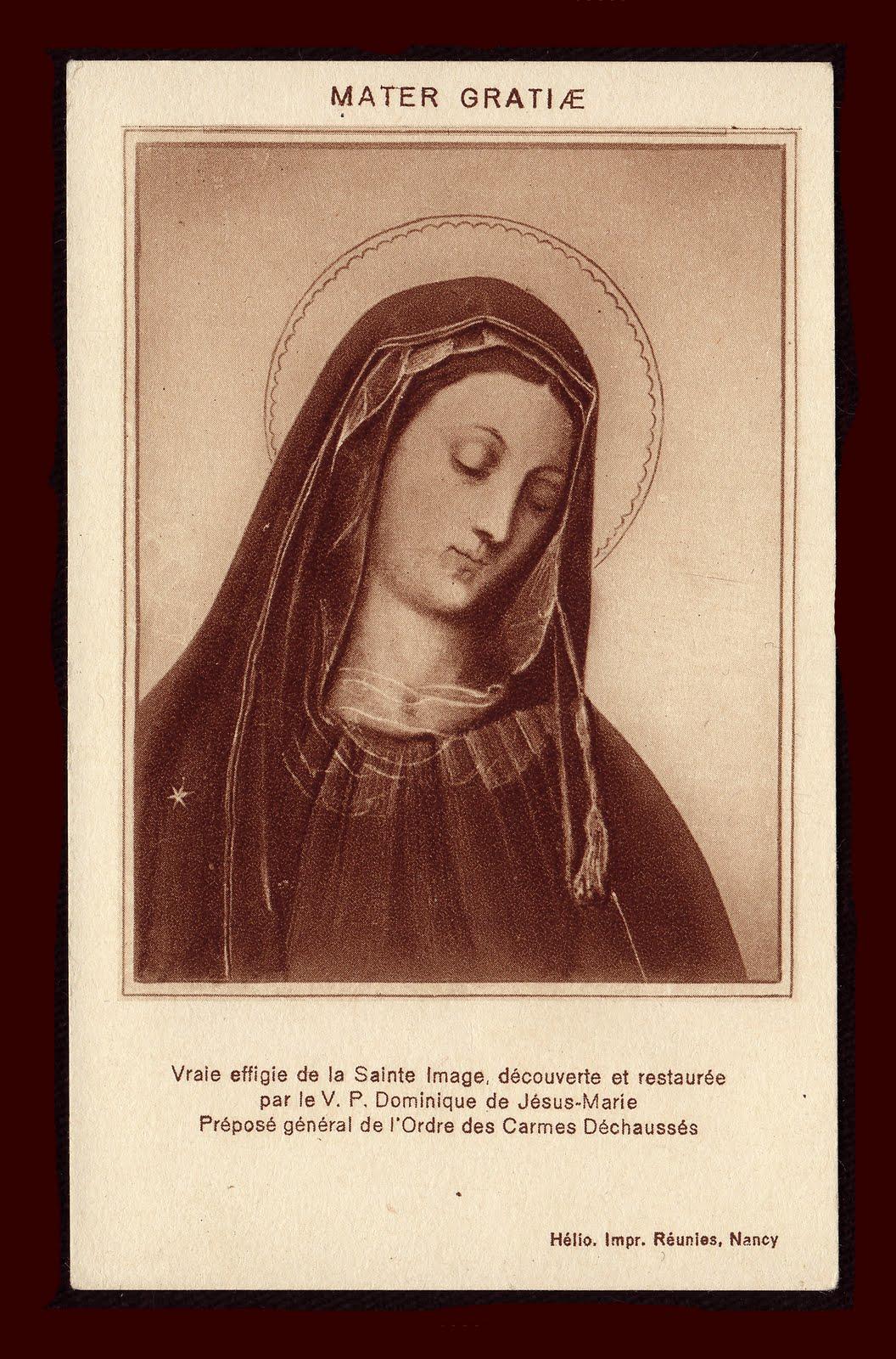 CARMEL: the Order of the Virgin: Mother of Divine Grace ...