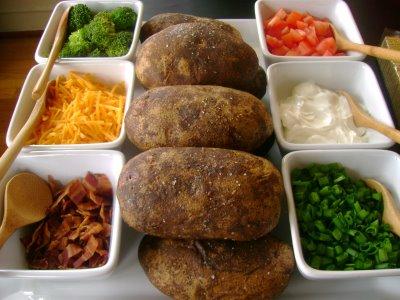 Simply Fit Mama: Baked Potato Bar and Salad