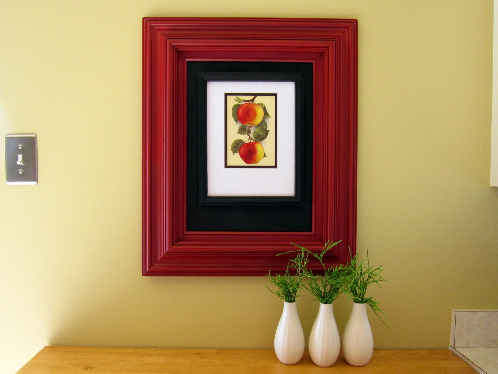 Double the fun: hang a frame within a frame - Rosyscription