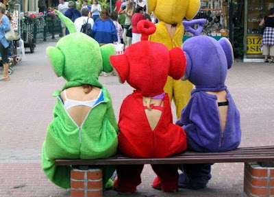 However I Was Able To Find A Photo Which May Prove The Teletubbies Are Not After All It Would Be Ok For Tinky Winky Carry Handbag If She Were