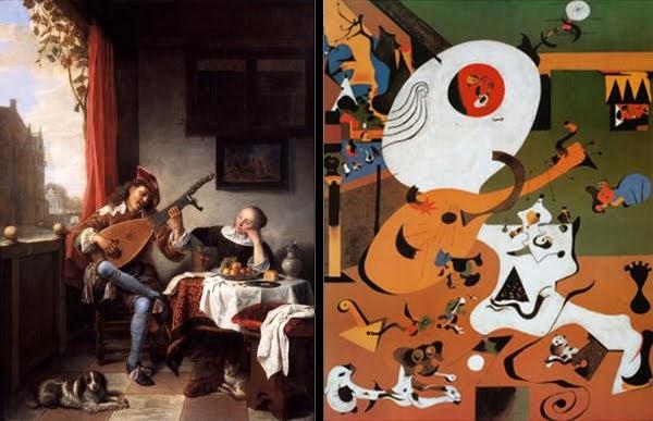 Spanje kunst blog joan mir en de nederlandse for Joan miro interieur hollandais