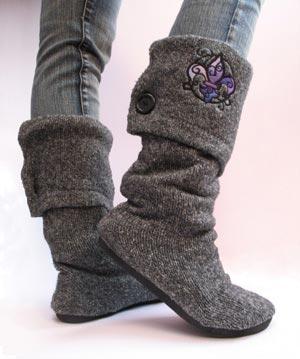 Como hacer unas Botas con estilo, con unos zapatos y un jersey viejos