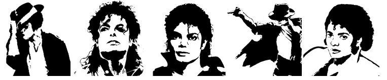 Plantillas de Michael Jackson para Imprimir.Stencil