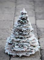 árbol, Navidad, papel, trozos, manualidades, fiestas, tree, holiday