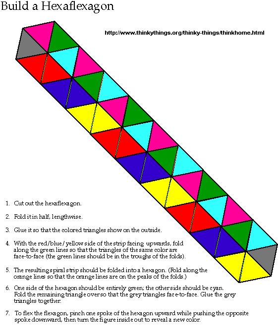 1000 images about hexaflexagon on pinterest math for Hexahexaflexagon template