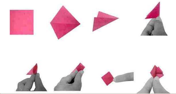 flor, flores, origami, almendro, manualidades, papel