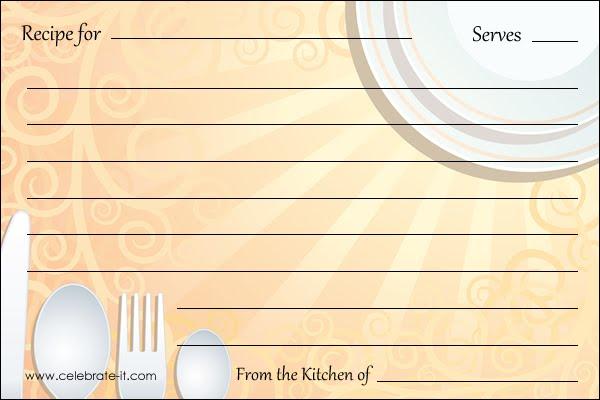 fichas recetas, plantillas recetas, cocina, recipe card