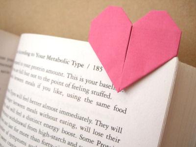 pin, clip, corazón, origami, papel, manualidades