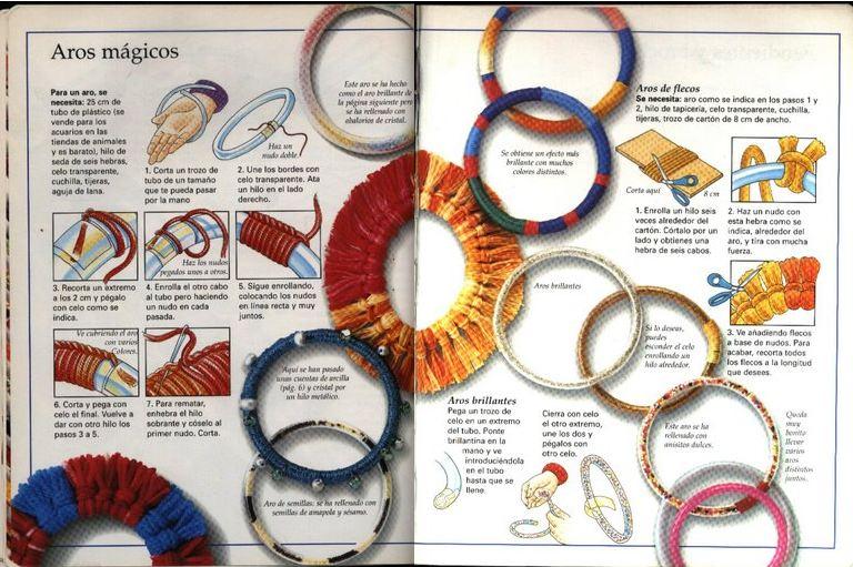 pulseras, amistad, hilos, bisutería, brazaletes, diy, enrollada