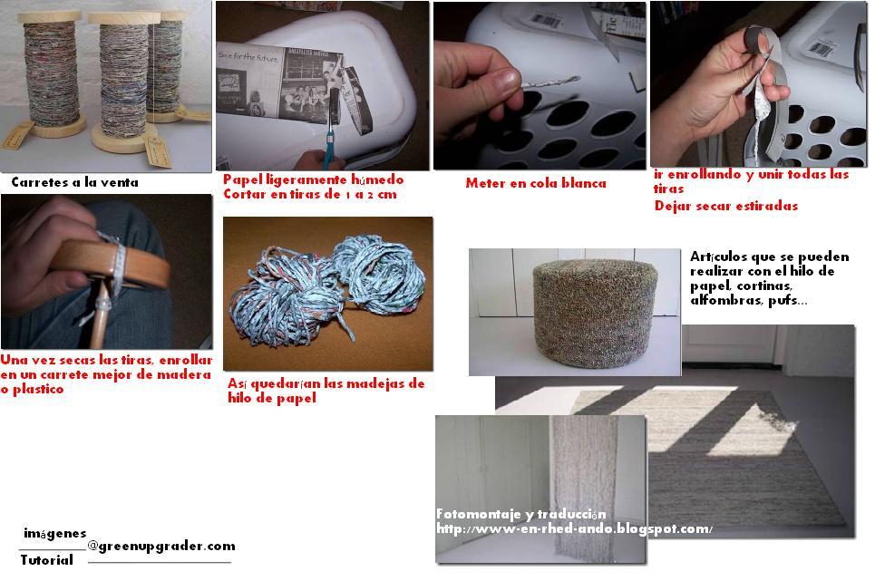 hilar, papel, hilo de papel, tejer, manualidades, diys, técnicas