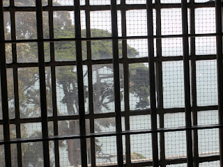 Looking out from the inside of Alcatraz