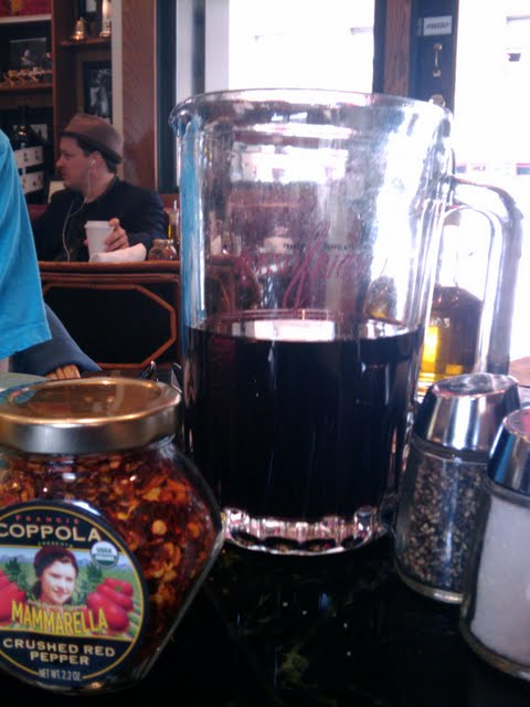 Barbary Coast Trail - Cafe Zoetrope, Pitcher of Coppola Wine