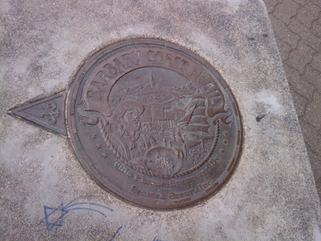 Barbary Coast Trail - Sidewalk Trail Marker