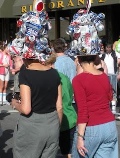 Beer hats: Bay to Breakers in San Francisco