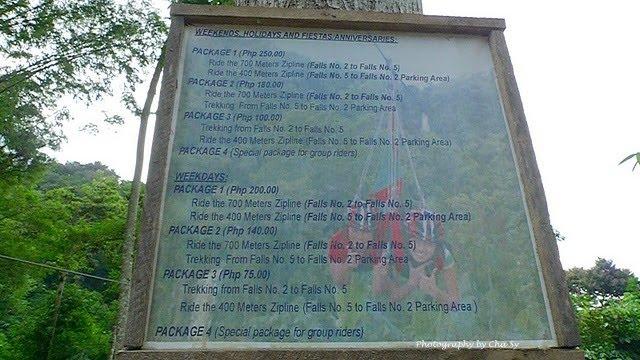 Lake Sebu, Philippines, Zipline Adventure Rates