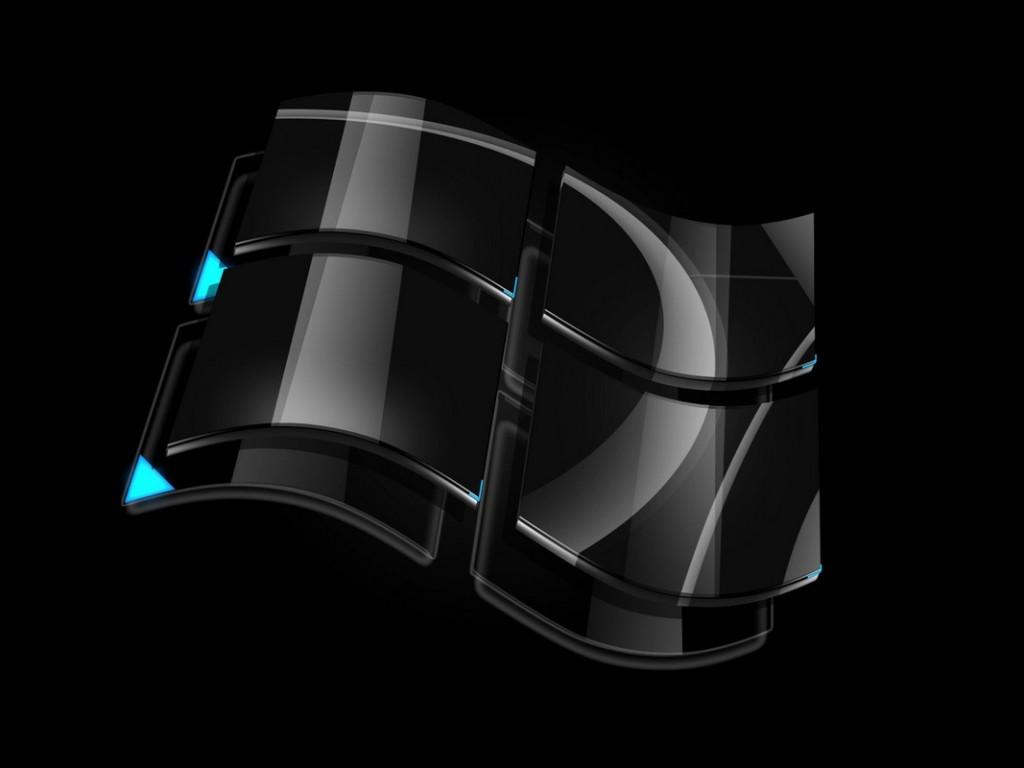 Windows Black, Cool Windows Logo Wallpaper