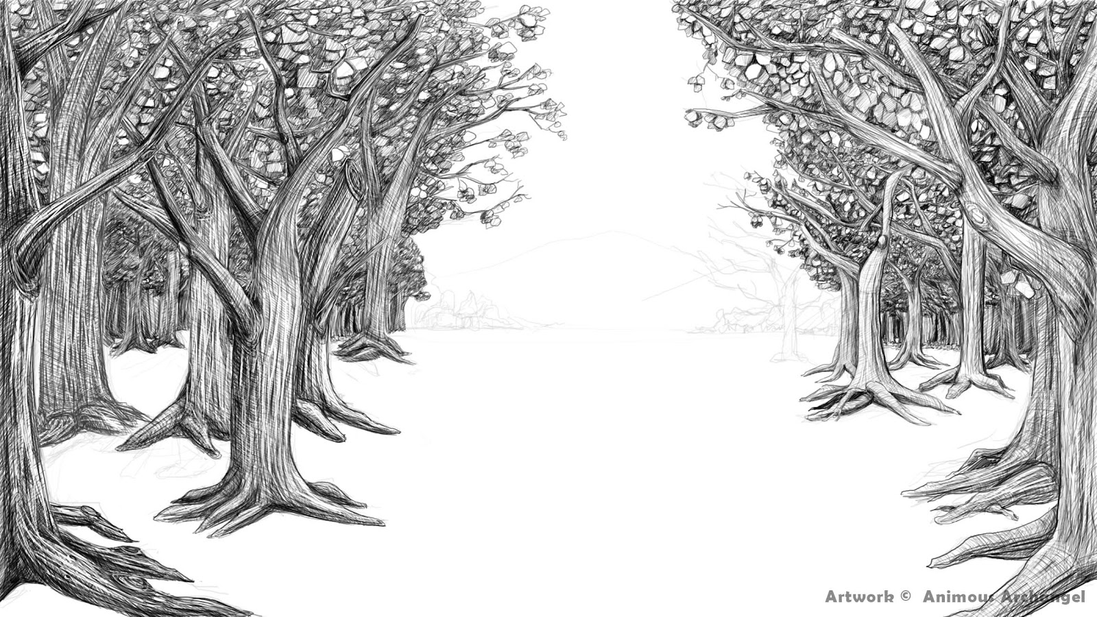 forest background drawing amazing wallpapers