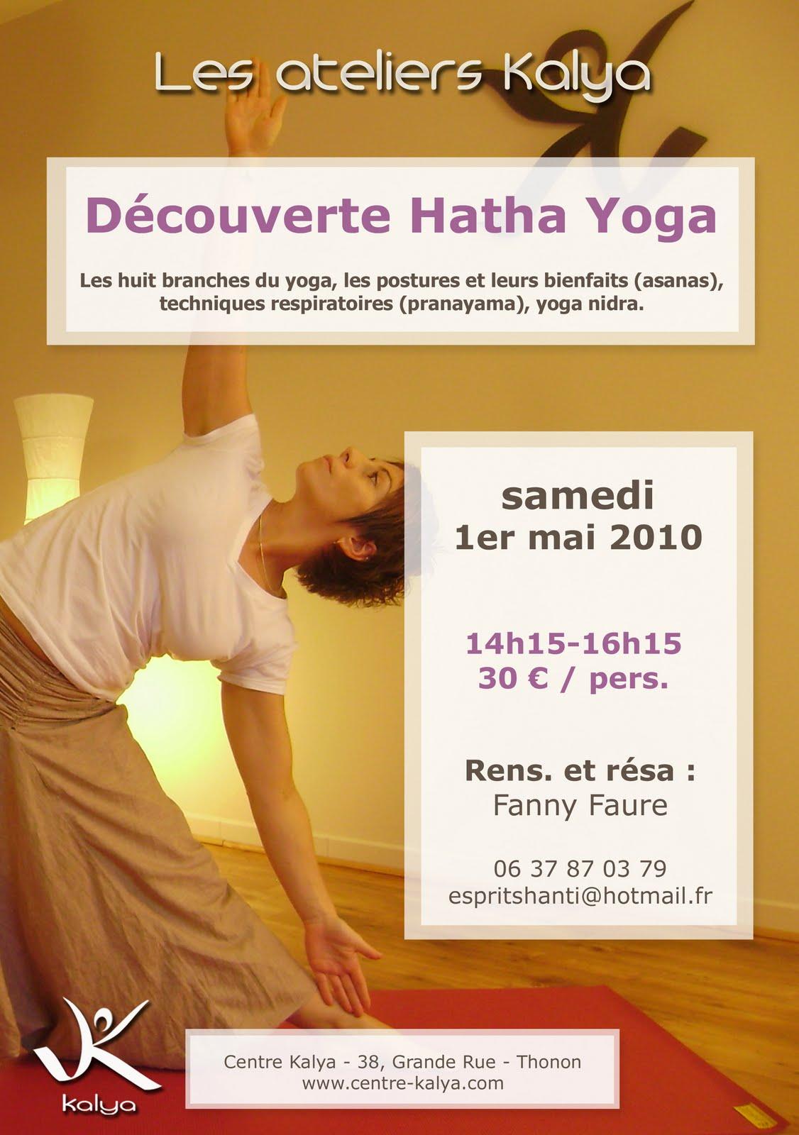 arts of yoga le blog de julien levy atelier d couverte du hatha yoga centre kalya. Black Bedroom Furniture Sets. Home Design Ideas