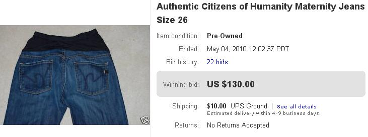 689168c93ad27 Citizens of Humanity Maternity Jeans Pre-Owned - Sold for $130
