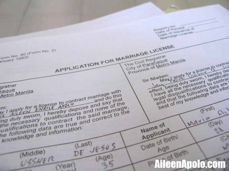 How To Get A Marriage Certificate From The Philippines: PARANAQUE CITY LIFE: Obtaining A Marriage License At The