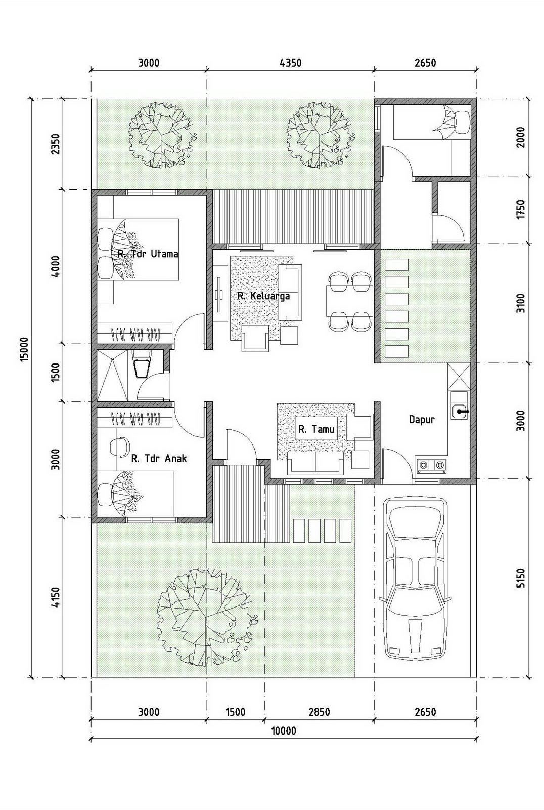 Gambar Denah Rumah Type 70 - Rumah Minimalis