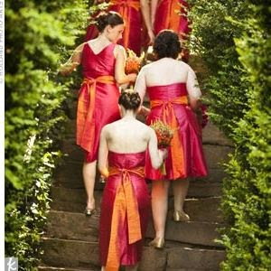 Pink and Orange Wedding Ideas: Pink and Orange Bridesmaid