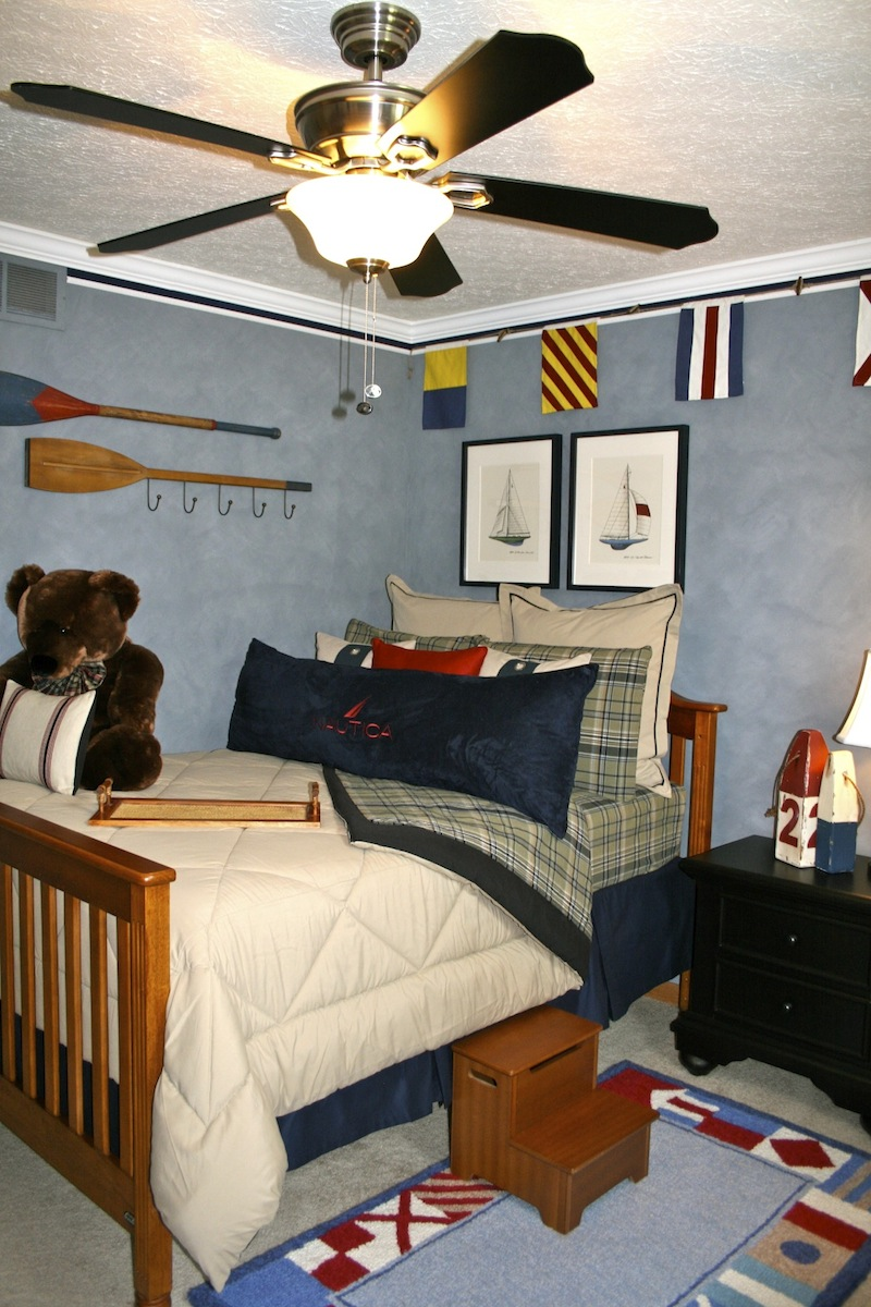 inspiring nautical themed bedroom ideas | Love, Laughter & Decor: A Little Boy's Nautical Retreat
