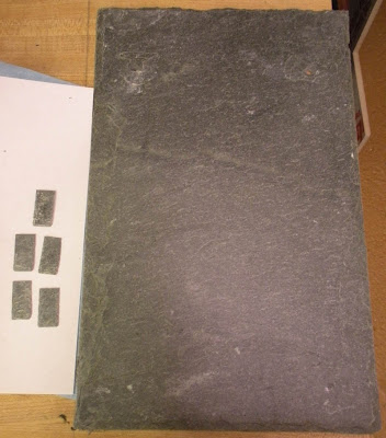 Karin Corbin Miniatures: Miniature real slate roof tiles