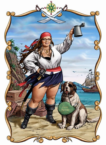 Pin up de chicas pirata gordita