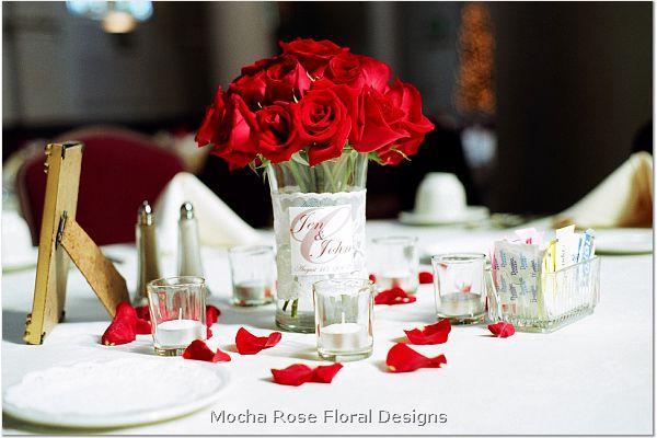 Red Wedding Centerpiece Ideas