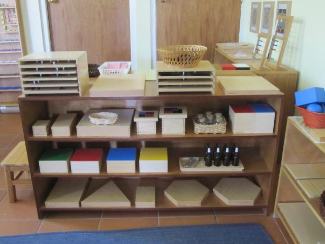 Beautiful Sun Montessori Shelves Setup