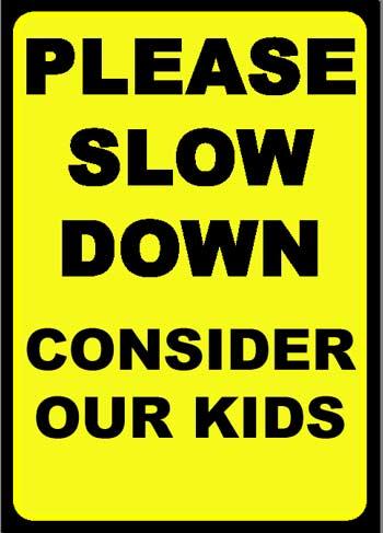 Enjoy my life: Slow down in school zones (PSA)